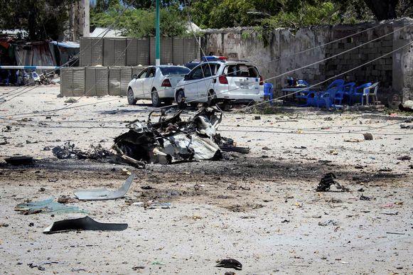 Een autobom ontplofte bij het ministerie van Arbeid in de Somalische hoofdstad Mogadishu.
