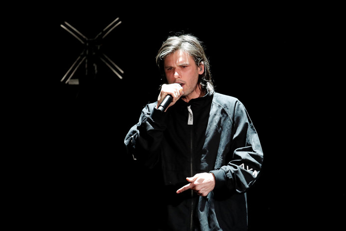 Rapper Orelsan tijdens de Victoires de la Musique, afgelopen vrijdag.