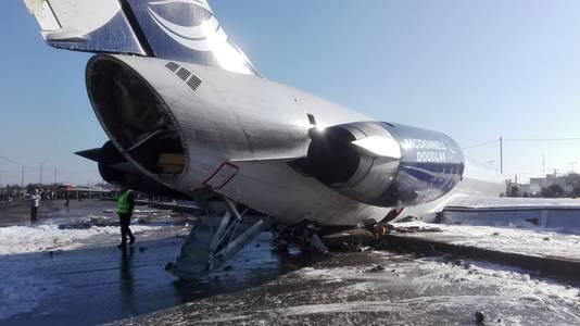 Passagiers konden het vliegtuig veilig verlaten via de deuren en de vleugels.
