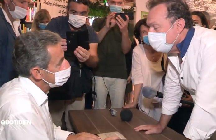 La rencontre entre Nicolas Sarkozy et Julien Lepers.