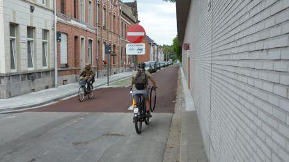 """Rood wegdek markeert nieuwe fietsstraat in Uebergdreef: """"Straat maakt deel uit van fietssnelweg"""""""