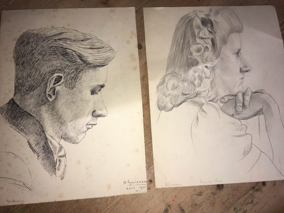 Meneer Witteveen en Kootje Lap opgetekend door tekenaar Bert Gorissen. Wie zijn deze mensen?