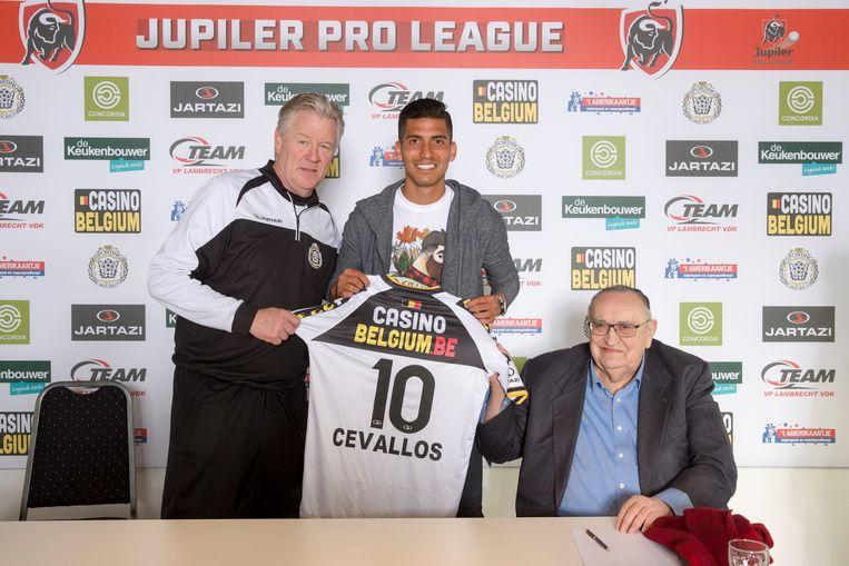Training en voorstelling nieuwe speler José Francisco Cevallos bij Lokeren.