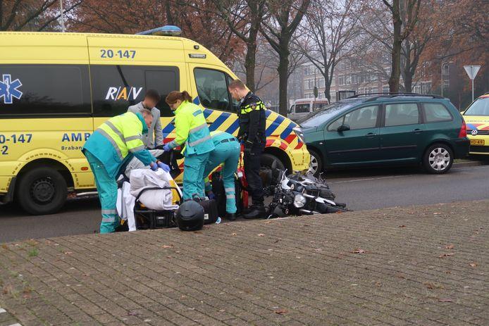 Motorrijder gewond bij ongeluk in Tilburg