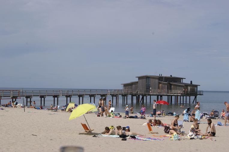 Bastad beachlife Beeld