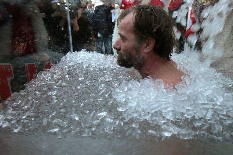 Wim Hof, beter bekend als de 'iceman'. Beeld reuters