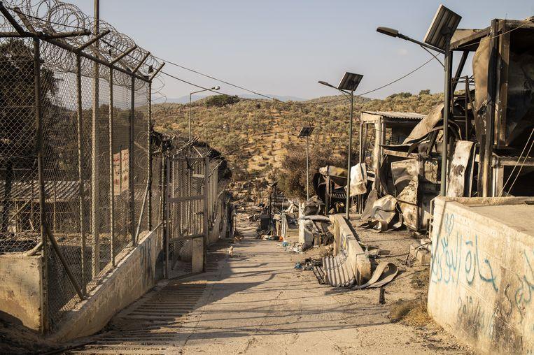 Moria raakte totaal verwoest. Beeld Hollandse Hoogte / AFP
