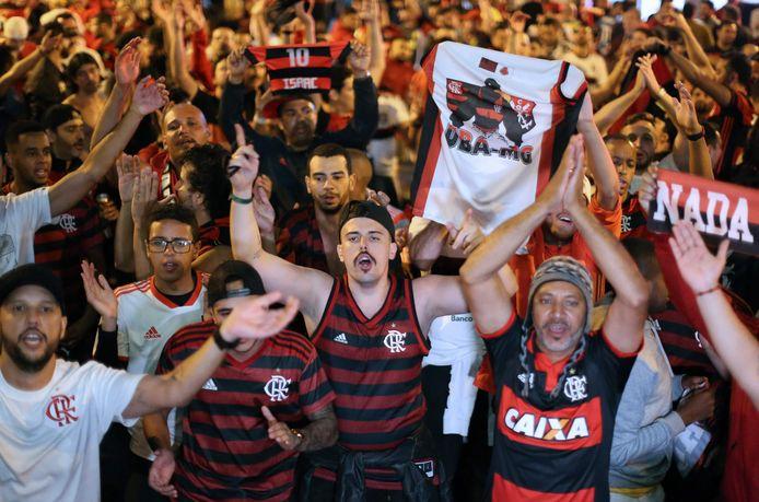In Lima zijn ook al duizenden fans van Flamengo aanwezig.