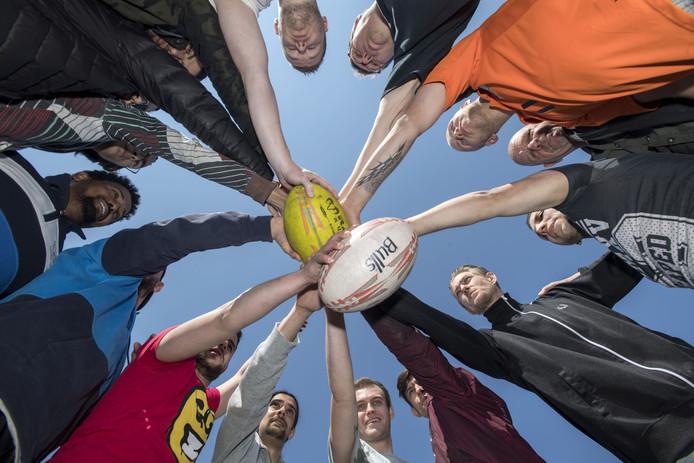 Rugby speelt een centrale rol tijdens de coaching van deelnemers aan De Harde Leerschool.