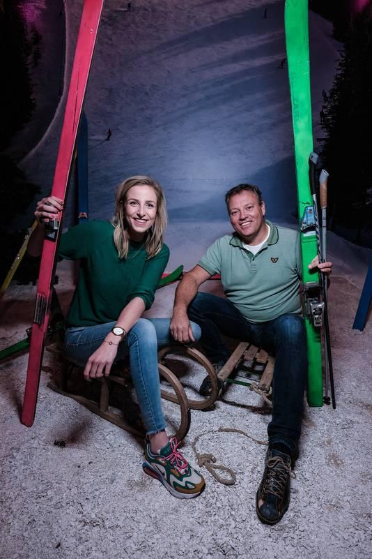 Lisanne Halleriet en Ronald Sasbrink Harkema in de escaperoom in Winterswijk.