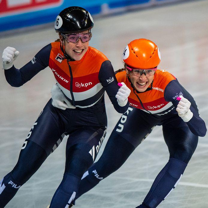 Lara van Ruijven en Suzanne Schulting.