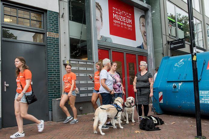 Het MuZIEum op nieuwe locatie in de Ziekerstraat in het centrum van Nijmegen. Vrijdag gat het belevingsmuseum open.
