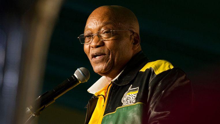 De Zuid-Afrikaanse president Jacob Zuma