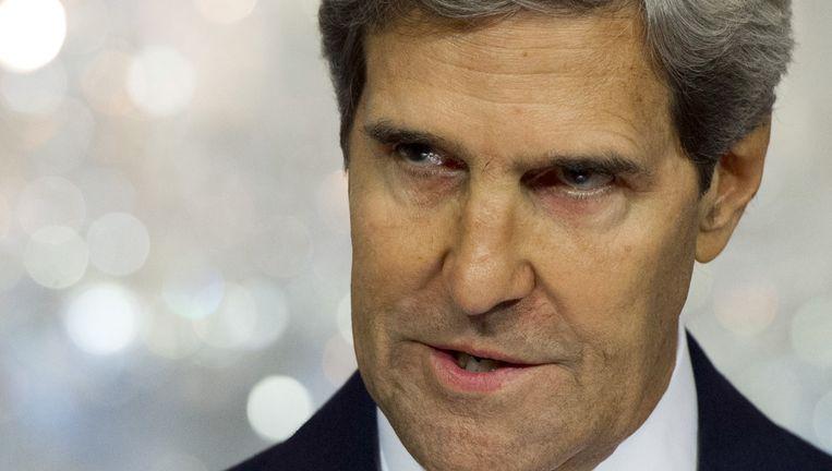 John Kerry, de Amerikaanse minister van Buitenlandse Zaken. Beeld afp