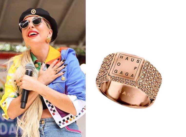 Lady Gaga draagt ring uit België.