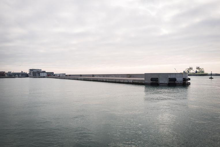 De stormvloedkering Mose moet Venetië beschermen tegen het water maar is nog altijd in aanbouw. Beeld Zolin Nicola