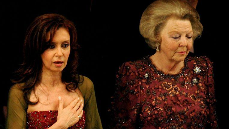 April 2006, tijdens het tweedaagse staatsbezoek van koningin Beatrix aan Argentinië. Beeld anp