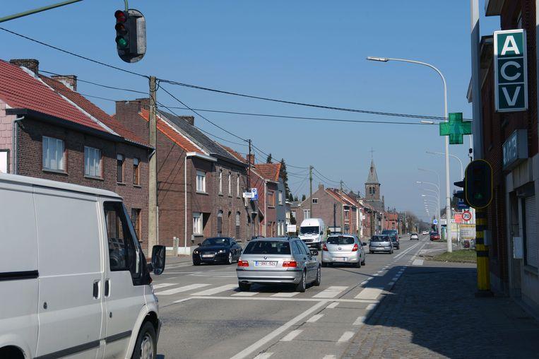 Illustratiebeeld de Staatsbaan (N2) in Lubbeek
