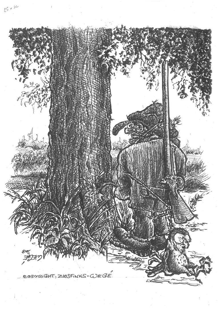Een tekening uit het boek.