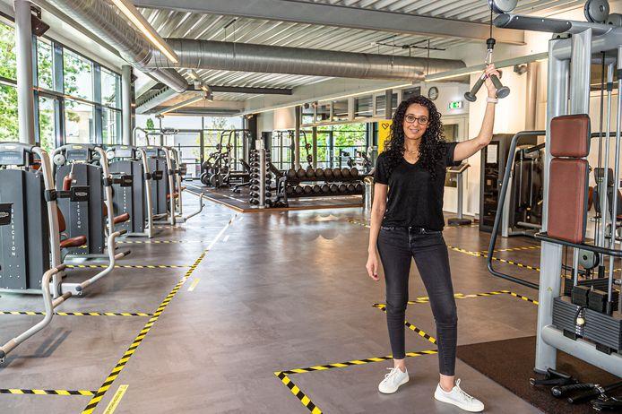 Directeur Noura el Ayachi van Nippon the Healthclub in Schoonhoven heeft haar sportschool coronaproof ingericht, maar mag pas vanaf 1 september open.
