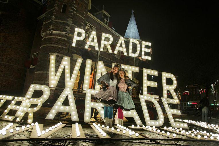 De cast van de Winterparade staat al klaar Beeld Aldo Brinkhoff