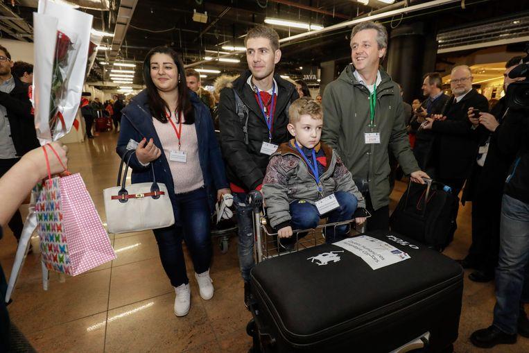 In december 2017 kwamen de eerste Syrische gezinnen in Brussel aan via de humanitaire corridor.