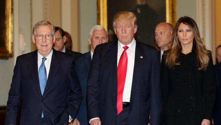 Een notoire antisemiet wordt genoemd als Trumps Chief of Staff en incompetent gebleken vriendjes krijgen zware ministersposten. Beeld afp