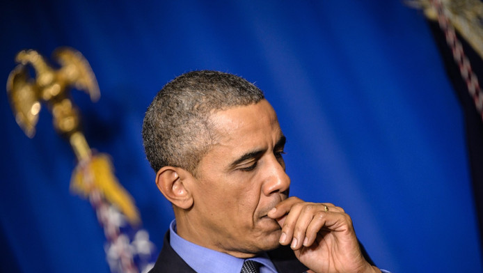 Archieffoto van Barack Obama.
