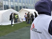 Plus que 8 sans-abri et migrants au centre de MSF sur le site de Tour & Taxis à Bruxelles