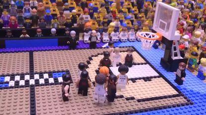 """VIDEO. Indrukwekkende Lego-animatie eert een historische """"buzzer-beater"""""""