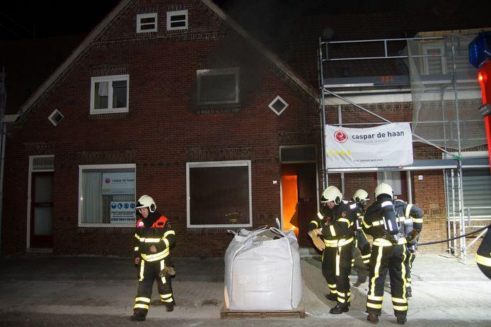 Vrouw gewond bij woningbrand in Kaatsheuvel.