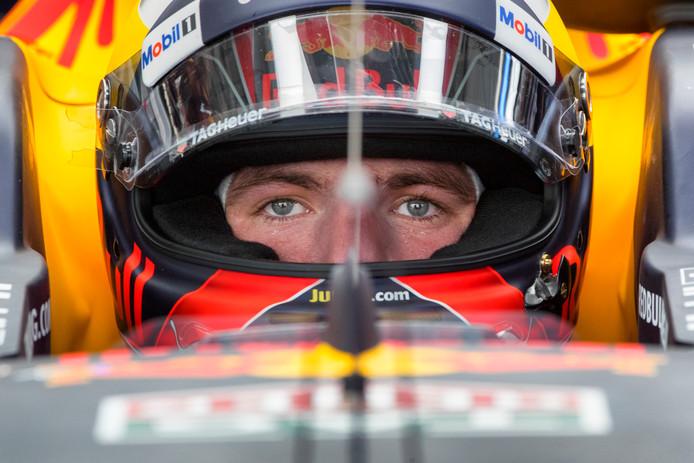 Max Verstappen tijdens de Grand Prix van Maleisië.