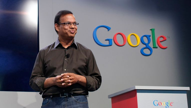 Amit Singhal in 2013, toen hij nog aan de slag was bij Google.