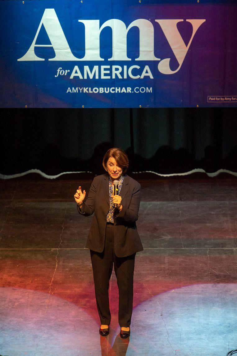 Amy Klobuchar in Salt Lake City op maandag 2 maart 2020.   Beeld AP