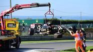 Meteen prijs: Maldonado crasht tijdens eerste vrije oefenritten in Francorchamps