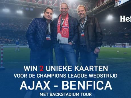 Win twee kaarten voor Ajax-Benfica!