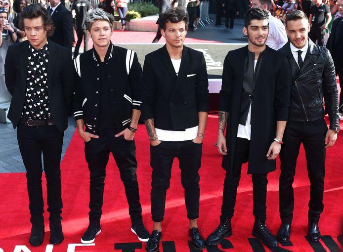 Van links naar rechts: Harry Styles, Niall Horan, Louis Tomlinson, Zayn Malik en Liam Payne.
