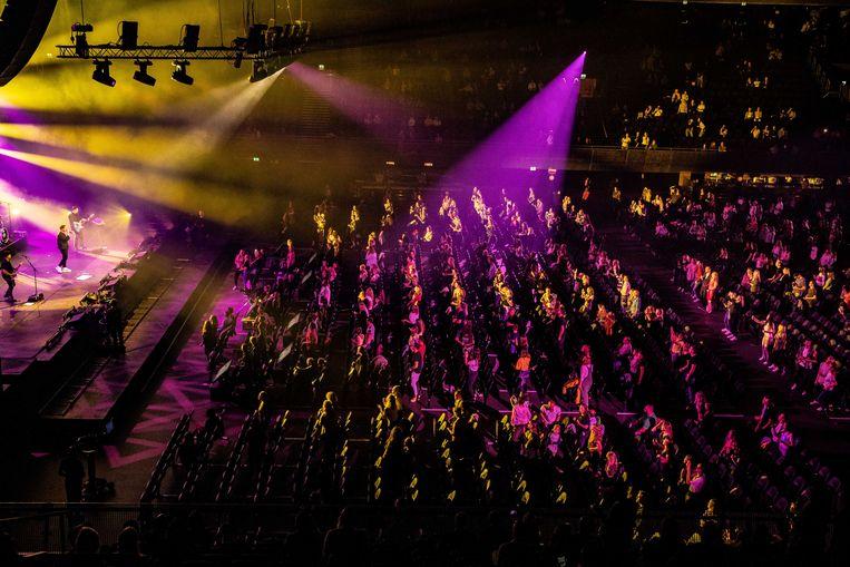Nielson treedt op in de Ziggo Dome tijdens het eerste Larger Than Live concert. Beeld ANP Kippa