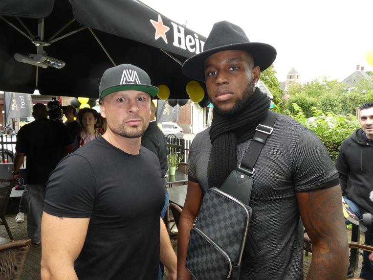 Joerie Mes, de eerste pupil en kampioen van Big Mike, en Donegi Abena, de huidige opkomende ster. Mes: