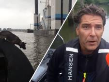 Speurhond zoekt op de Oude Maas naar vermiste Dirk