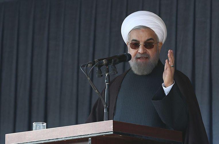 President Hassan Rouhani in december vorig jaar. Beeld afp