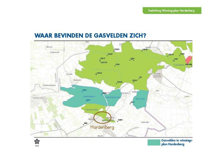 Gaswinning Hardenberg; graphics van de NAM