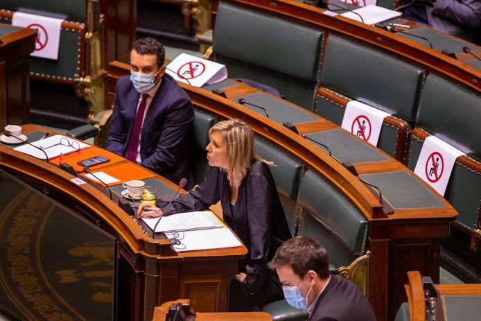 Ludivine Dedonder en commission à la Chambre