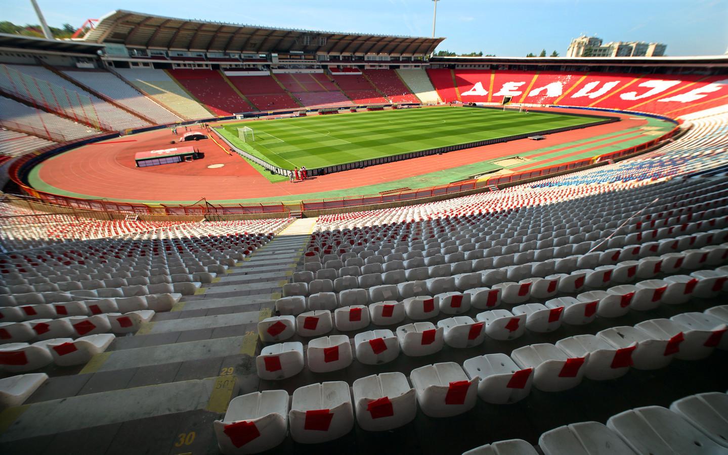 Het Rajko Mitic-stadion in Belgrado.