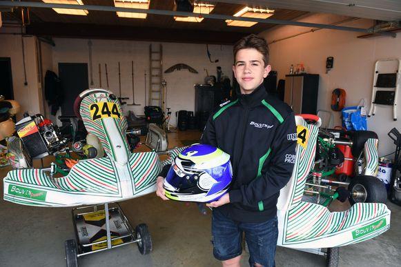 Milan (14) is Belgisch kampioen karting