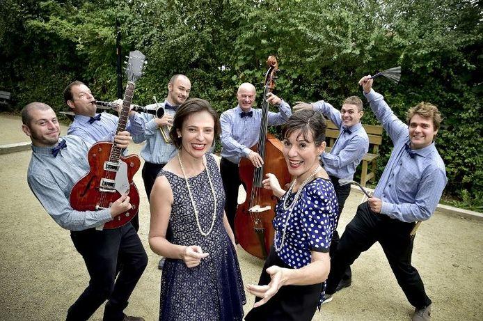 De muzikanten van Les Croquettes.