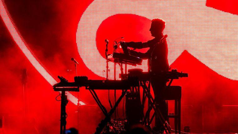 Robert Del Naja met Massive Attack vorig jaar in Budapest Beeld ANP