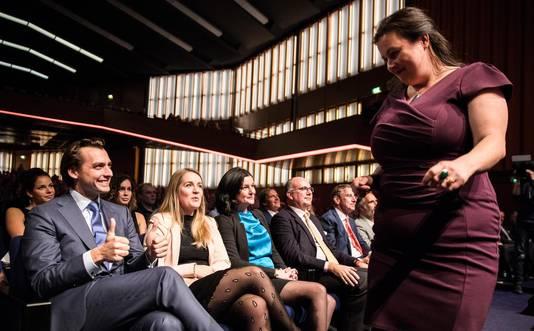 Annabel Nanninga na haar speech.