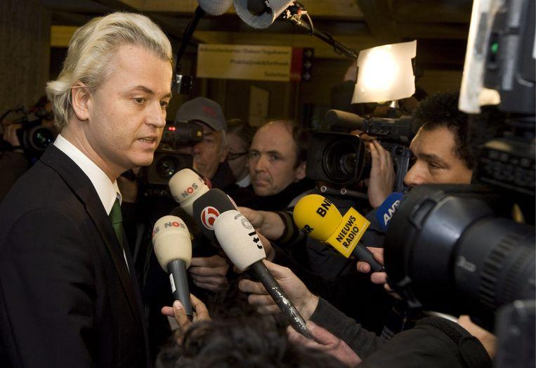 """Wilders oordeelt dat hij als politicus moet wijzen op """"de gevaren van de massa-immigratie en voortschrijdende islamisering""""."""