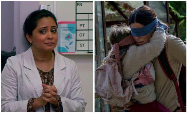 Parminder Nagra mocht niet met haar natuurlijke Britse accent spreken in 'Bird Box'.